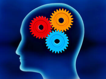 Cogwheels ressembling to a human brain working